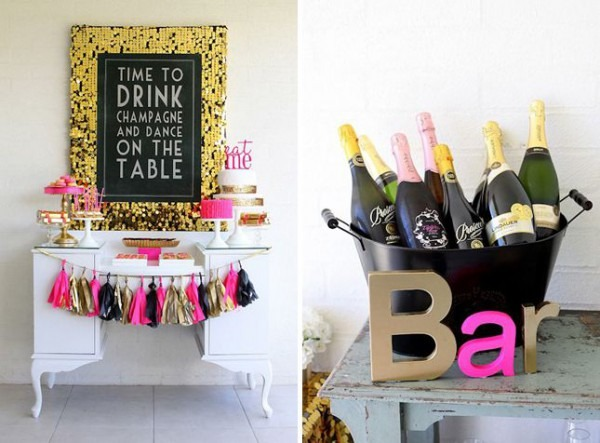 30 Ideas For Your 30th Birthday Party Champagne Bar And 30