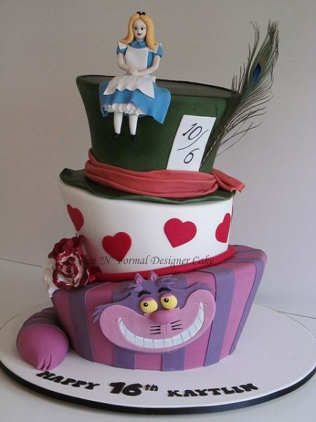 Madhatter Alice In Wonderland Birthday Cake In 2018