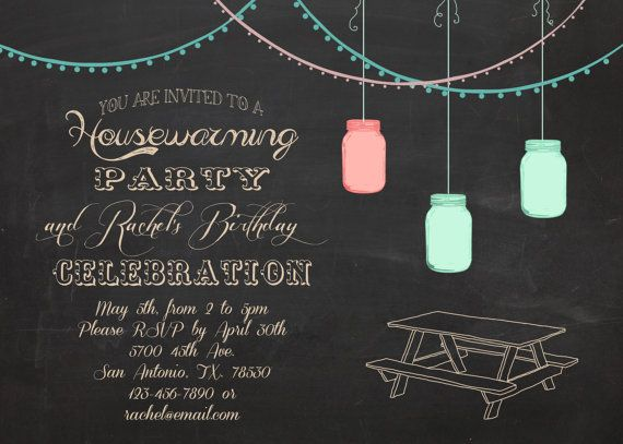 Housewarming And Or Birthday Party Outdoor Bbq Invitation 5x7 Via