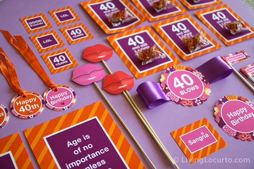 40th Birthday Party Printables {giveaway}