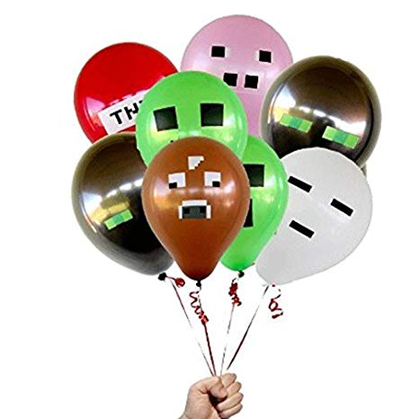Amazon Com  Minecraft Miner 24 Count Party Balloon Pack