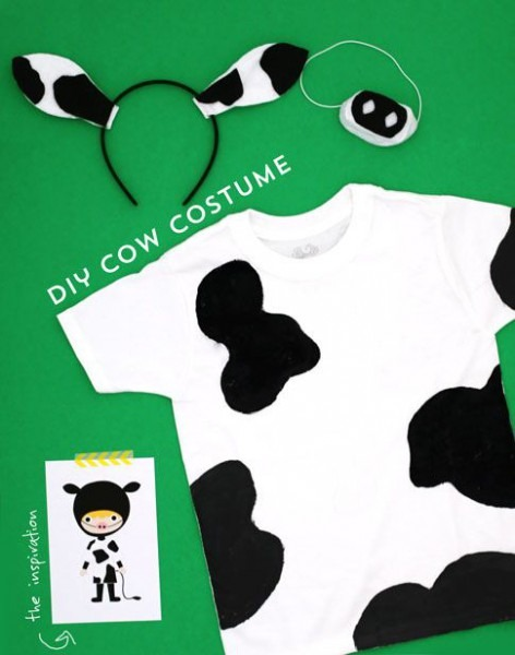 Easy Diy Costumes   Cow Costume   By Ann Kelle