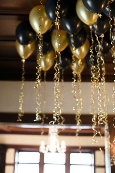 Black And Gold Party Decor