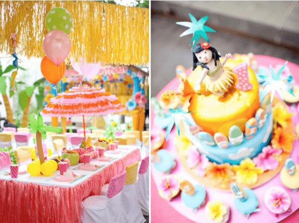 Kara's Party Ideas Aloha Luau Surf Colorful Hawaiian Beach Girl