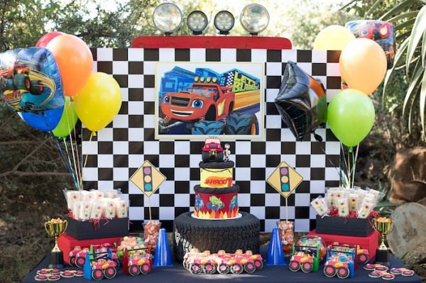 Kara's Party Ideas Blaze And The Monster Machines Birthday Party