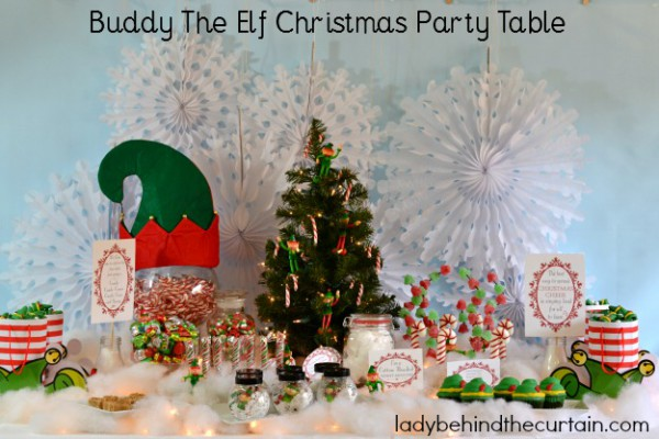 Buddy The Elf Christmas Party Table