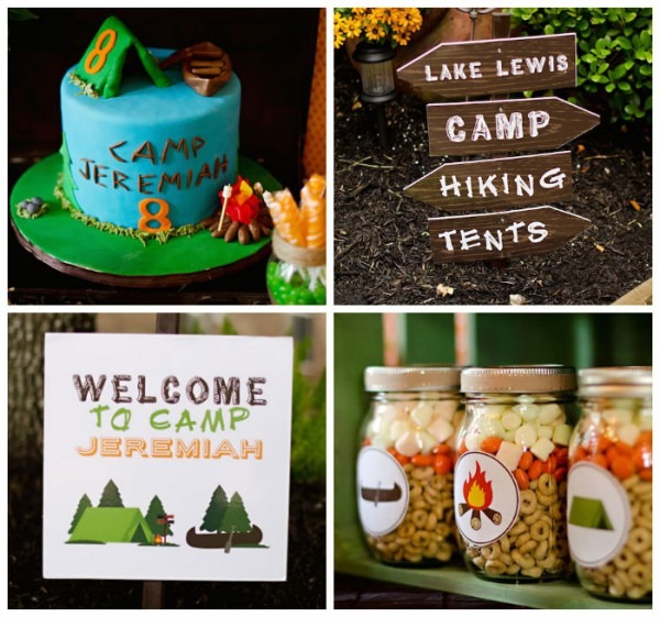 Kara's Party Ideas Rustic Camping Birthday Party