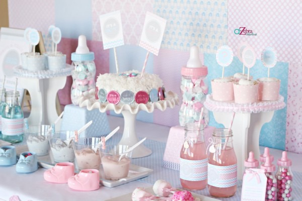 Centerpiece Ideas For Baby Shower Pastel Color