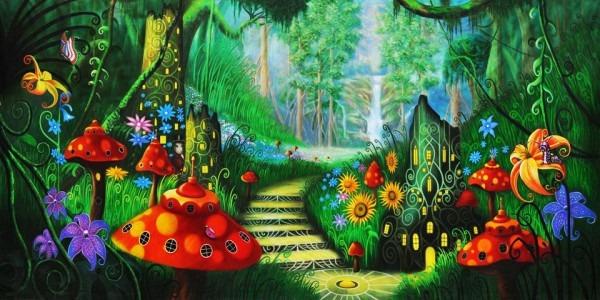Alice In Wonderland Scenic Stage Backdrop Rentals