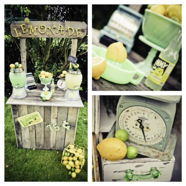 Kara's Party Ideas Vintage Fruit Stand Lemonade Lemon Lime