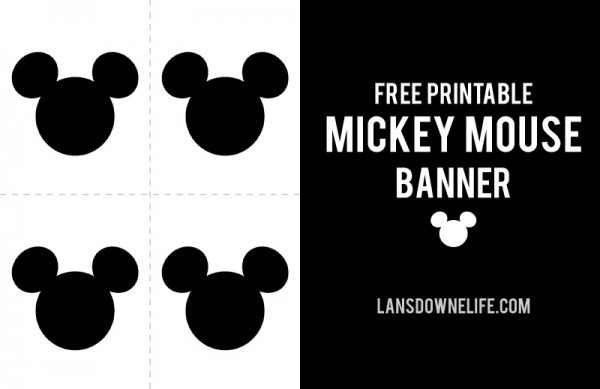 Printable Mickey Mouse Party Banner