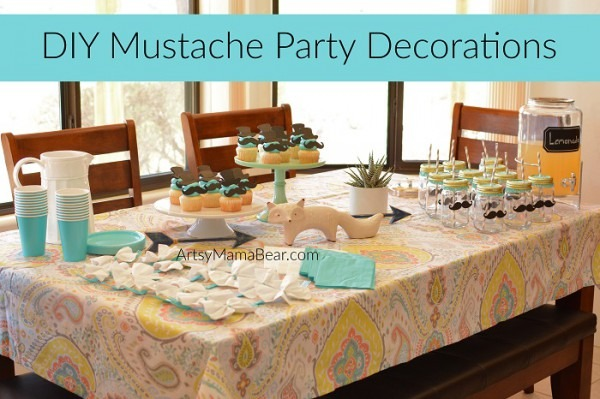 Diy Mustache Party Decorations