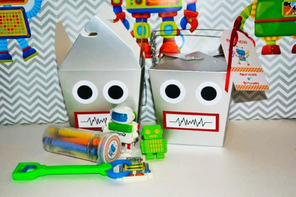 Kara's Party Ideas Robot Birthday Party Ideas Supplies Idea Cake