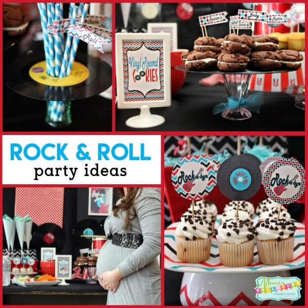 Rock N Roll Baby Shower  Rockabye Baby