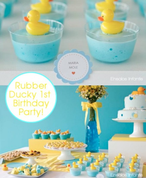 Kara's Party Ideas Yellow And Blue Rubber Duckie 1st Birthday