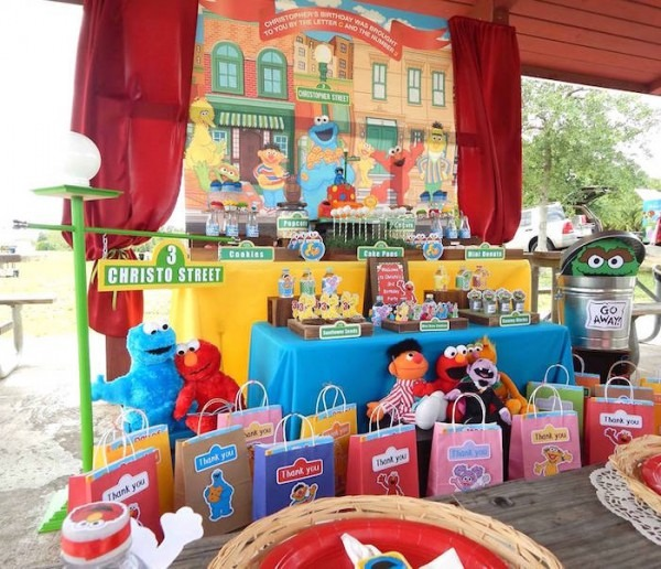 Kara's Party Ideas Rustic Whimsical Sesame Street Birthday Party