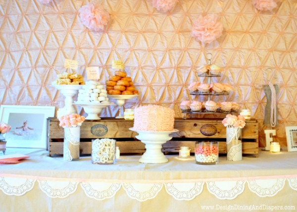 Shabby Chic First Birthday Party 91 Country Chic Party Decor