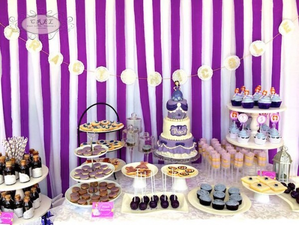 Kara's Party Ideas Sofia The First 5th Birthday Party