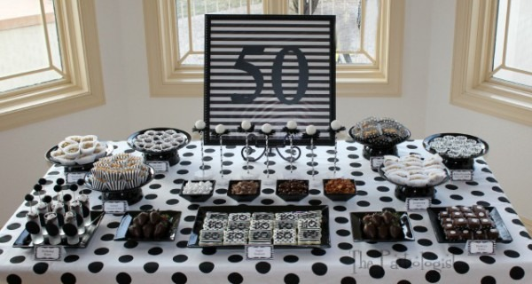 The Partiologist  Black & White Birthday Party!