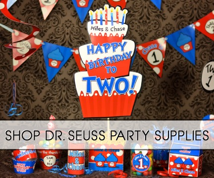 Thing 1 & Thing 2 Dr  Seuss Party