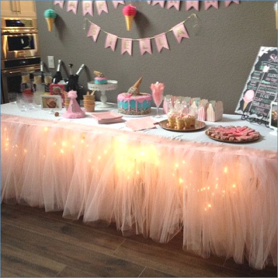 Ballerina Baby Shower Candy Table