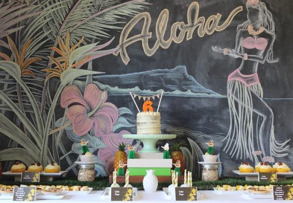 Kara's Party Ideas Vintage Hawaiian Birthday Party