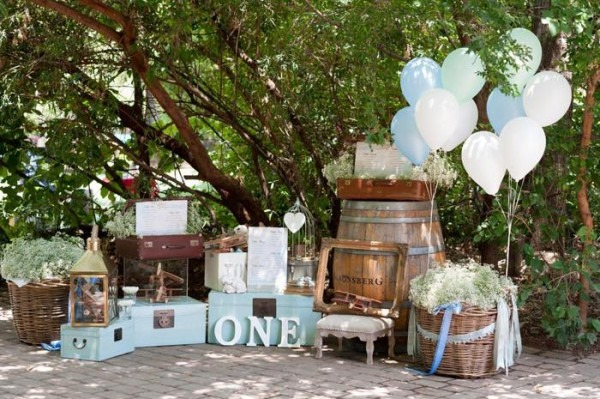 Kara's Party Ideas Vintage Up Up & Away Birthday + Christening Party