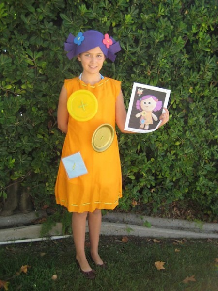 Homemade  Dolly  Costume From  Toy Story 3