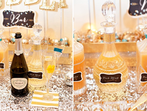 New Year's Eve Sparkle Baby Shower Ideas