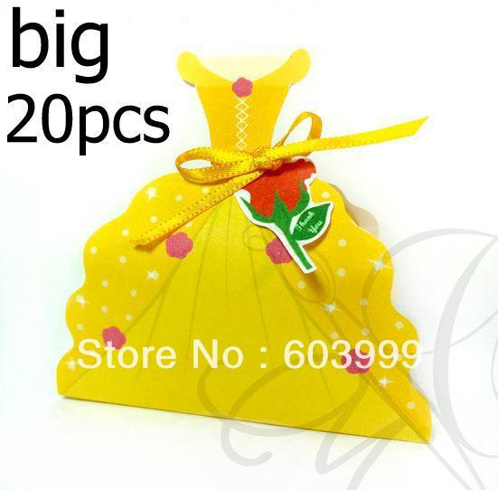 20 X Belle Beauty & The Beast Treat Box, Princess Belle Dress Huge