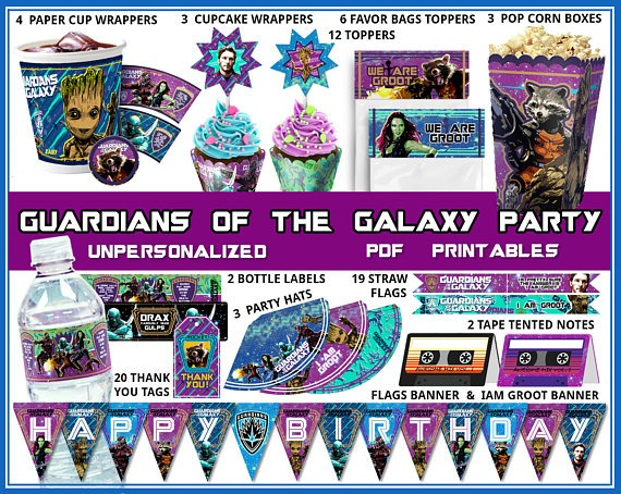 Guardians Of The Galaxy Birthday Party Guardians Birthday
