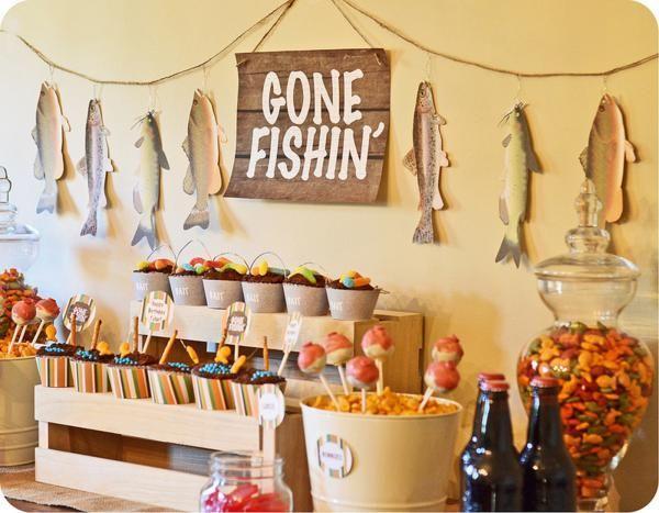 Gone Fishin' Fisherman Boy Birthday Party Planning Decorations