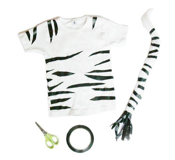 Safari  Super Easy Diy Zebra Tiger Costume! All It Takes Is A