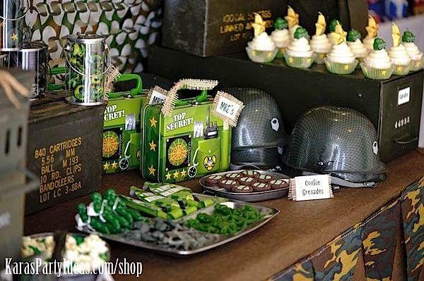 Military Birthday Party Food Ideas