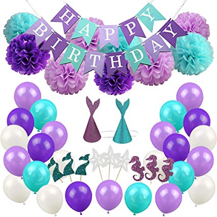 Amazon Com  Luck Collection Mermaid Party Supplies & Party