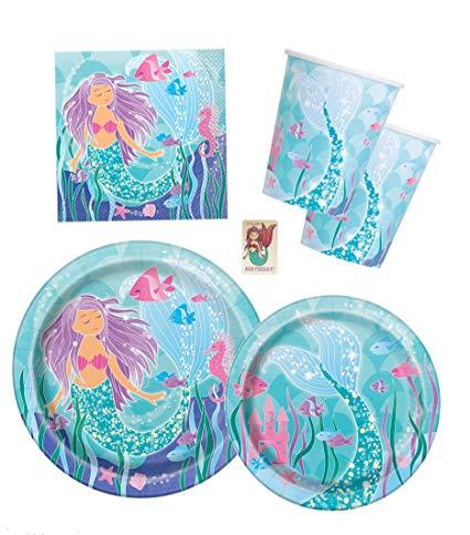 Amazon Com  Mermaid Birthday Party Supplies Pack