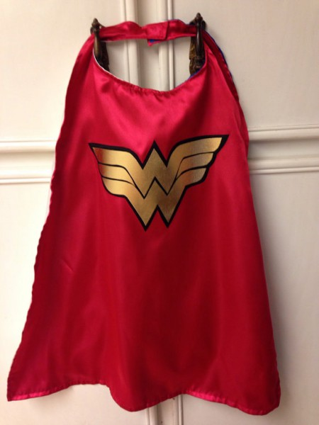 Ready To Ship Toddler Wonder Woman Cape  By Auntbunnysblankets