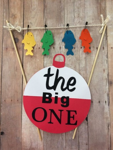 First Birthday Fishing Cake Banner , Bunting ,   The Big One