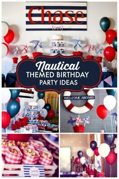 Nautical First Birthday Party For Boy