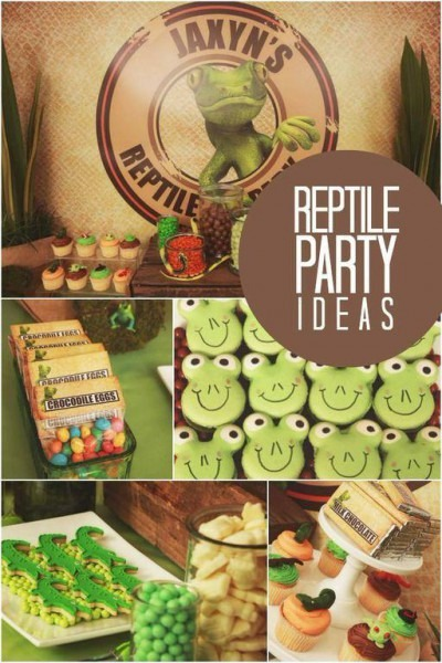 A Boy's Reptile Themed Birthday Party