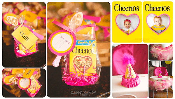 Kara's Party Ideas Pink Cheerios Girl 1st Birthday Party Planning