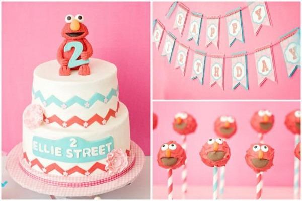 Kara's Party Ideas Girly Elmo Party Planning Ideas Cake Idea
