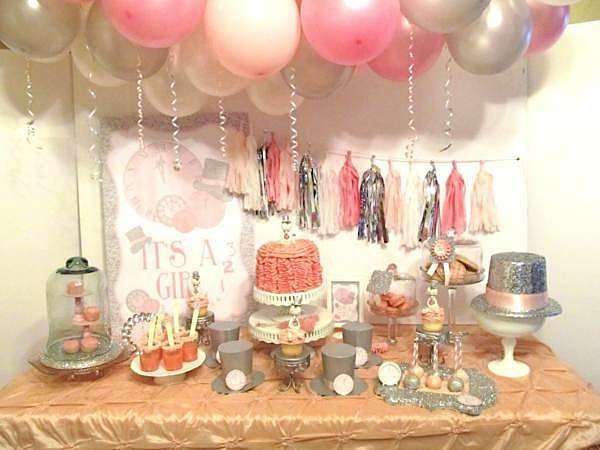 New Year's Eve Boy Girl Glittery Glam Baby Shower Planning Ideas