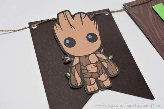 Groot Banner Guardians Of The Galaxy Party Baby Groot Party