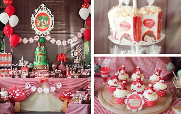 Kara's Party Ideas Little Red Riding Hood First Birthday Party