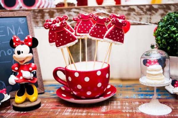Kara's Party Ideas Red, White, And Yellow Minnie Mouse Birthday Party