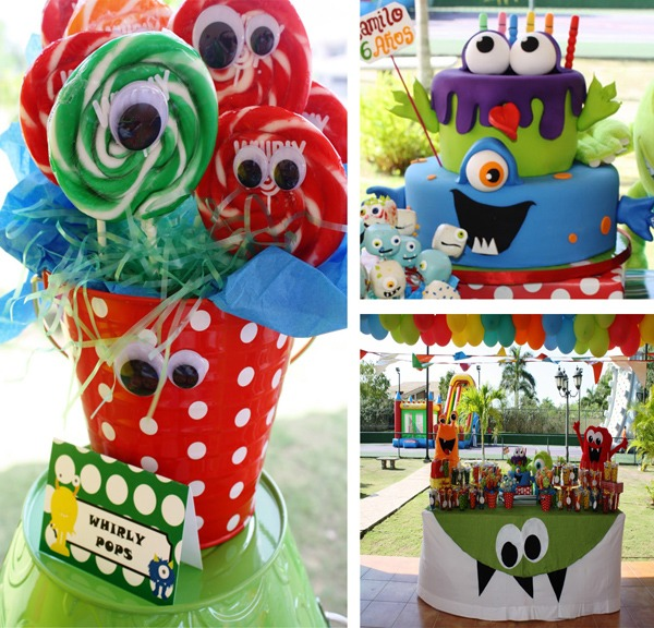 Kara's Party Ideas Monster Birthday Party Supplies Ideas Planning