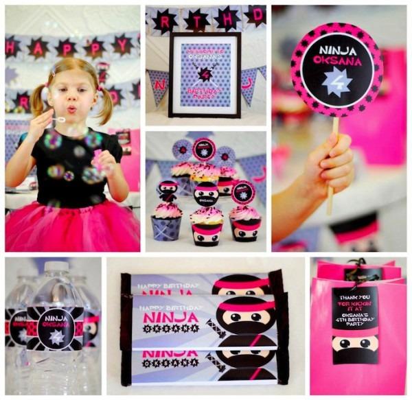 Kara& 039;s Party Ideas Pink Ninja Themed Birthday Party {decor