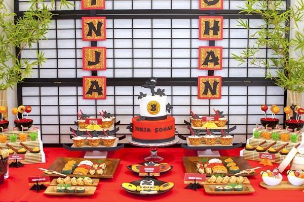 A Japanese Origami Dojo Ninja Birthday Party