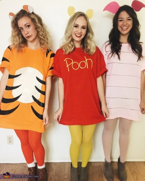 Pooh Bear, Piglet And Tigger Costume